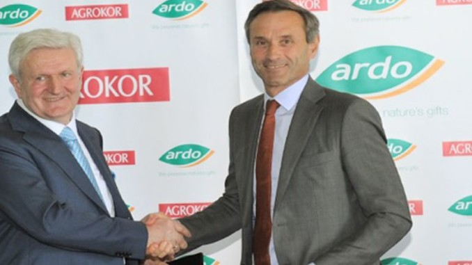 Ardo Signs Agreement for Joint Venture with Agrokor