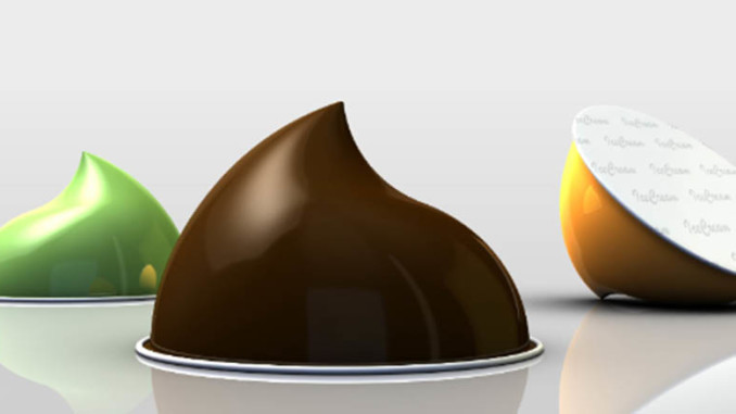 NESPRESSO - style capsule system for instant fresh ice cream Barry Callebaut