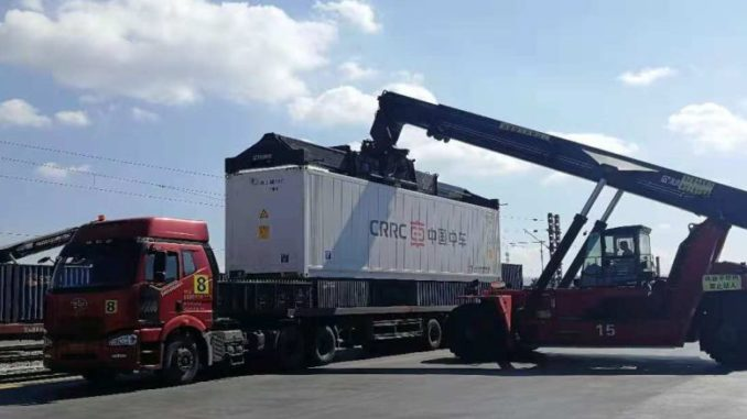 road/rail container